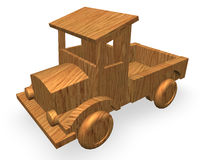 Wood car toy. On white background Royalty Free Stock Images