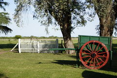 Wood Carriage. In Entre Rios province, argentina Royalty Free Stock Photos