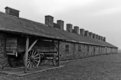 Wood cart load at Auschwitz Birkenau 2 Stock Photos