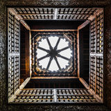 Wood carved ceiling in the Ben Youssef Medersa in Marrakesh Stock Photos