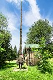 Wood carved column in Maramures Royalty Free Stock Image