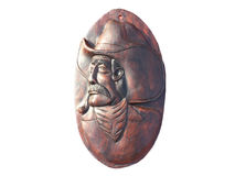 Wood carved cowboy Royalty Free Stock Images