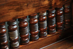 Wood carved decorated in furniture Royalty Free Stock Images
