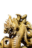Wood carved dragon Stock Image