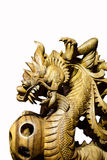 Wood carved dragon Royalty Free Stock Photography