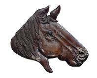 Wood carved horse. Wood carved horse  on white background Royalty Free Stock Photo