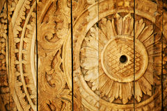 Wood carved ornament Stock Photos