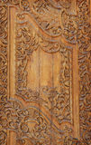 Wood carved ornament in a ancient building Stock Photography
