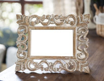 Wood carved picture frames Royalty Free Stock Images