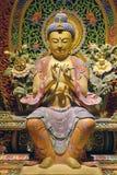 Wood Carved Sitting Buddha Royalty Free Stock Image