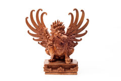 Wood carved statue Stock Images