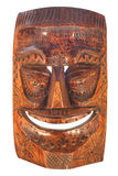 Wood carved Tiki Mask. Vintage style wood carved Tiki Mask stock images