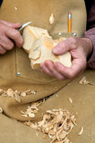 Wood Carver Stock Photography