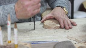 Wood carver stock footage