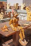 Wood carversseminarium arkivfoto