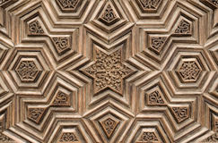 Wood carving. A historic door. We have hand-made carvings royalty free stock photo