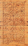 Wood carving. A closeup of a traditional sculpture in wood Stock Images