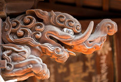 Wood carving. At Japanese temple Royalty Free Stock Image