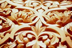 Wood Carving. Handicrafts of Malaysia, (Wood Carving), Malaysia Royalty Free Stock Photography