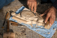 Wood carving Stock Images