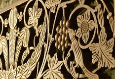 Wood carving. Intricate wood carving royalty free stock images