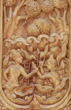 Wood carving. Handicrafts of Thailand, (Wood Carving), Thailand Royalty Free Stock Photography