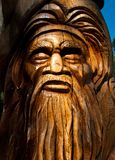 Australiana Tree Wood Carving. Wood carving of an aboriginal tree at Mt Dandenong, Victoria, Australia stock photo