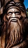 Australiana Tree Wood Carving. Wood carving of an aboriginal tree at Mt Dandenong, Victoria, Australia royalty free stock photo