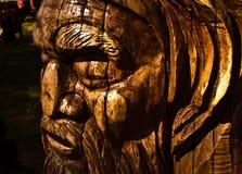 Australiana Tree Wood Carving. Wood carving of an aboriginal tree at Mt Dandenong, Victoria, Australia stock images