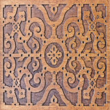 Wood carving, antique skillful pattern Royalty Free Stock Images
