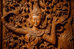 Wood carving art. Of hand made Royalty Free Stock Photos
