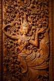 Wood carving art Royalty Free Stock Image