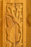 Wood Carving Art and Pattern Stock Image