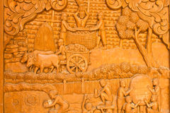 Wood carving,art of Thailand Stock Image