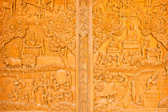 Wood carving,art of Thailand Royalty Free Stock Images