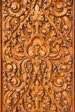 Wood carving. Beautiful wood carving in local art style, background Stock Photography
