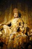 Wood-carving Buddha Stock Photography