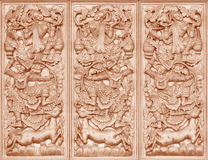 Wood carving Buddhist Royalty Free Stock Photography