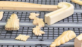 Wood carving decoration samples Stock Photography