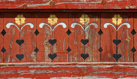 Wood carving detail Stock Photos
