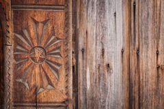 Wood carving detail in Maramures, Romania Stock Image