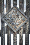 Wood carving detail in Maramures, Romania Royalty Free Stock Photography
