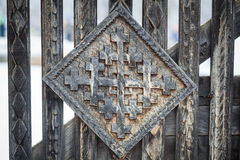 Wood carving detail in Maramures, Romania Stock Photography