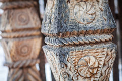 Wood carving detail in Maramures, Romania Stock Photos