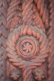 Wood carving detail in Maramures, Romania Stock Photo