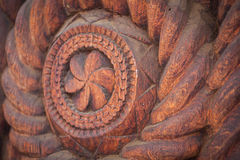 Wood carving detail in Maramures, Romania Royalty Free Stock Photo