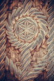Wood carving detail in Maramures, Romania Royalty Free Stock Images