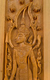 Wood carving for deva statue Stock Photos