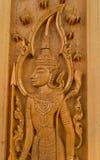 Wood carving for deva statue Stock Photos