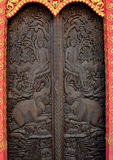 Wood carving doors Stock Photography
